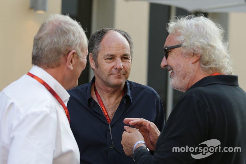 Dr Helmut Marko, Red Bull Motorsport Consultor con Gerhard Berger y Flavio Briatore