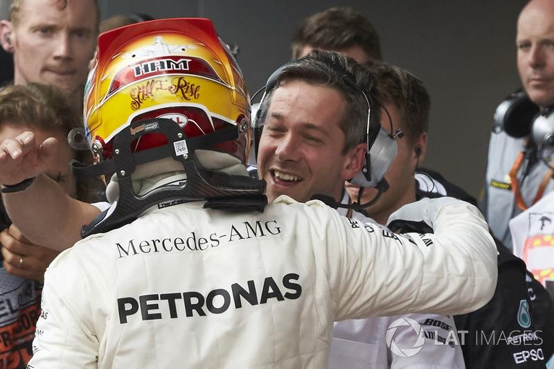 Race winner Lewis Hamilton, Mercedes AMG F1
