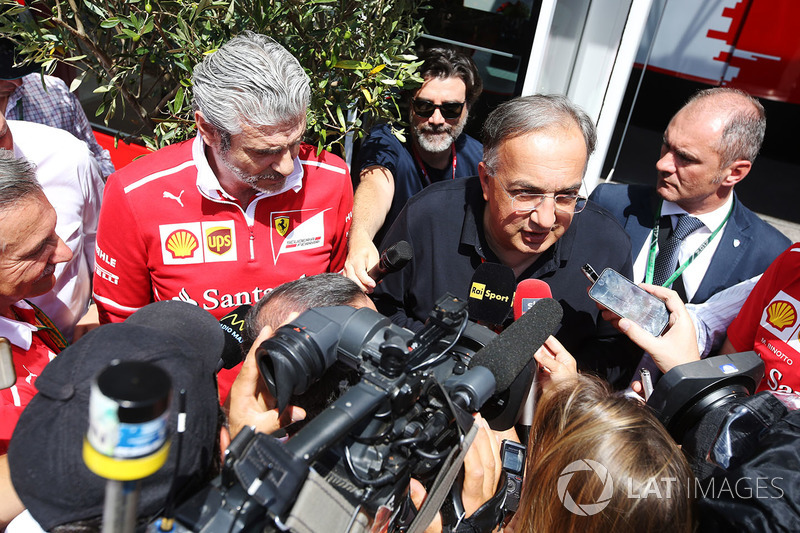 Sergio Marchionne, Chief Executive Officer, Fiat Chrysler and Chairman, Ferrari, is interviewed alon