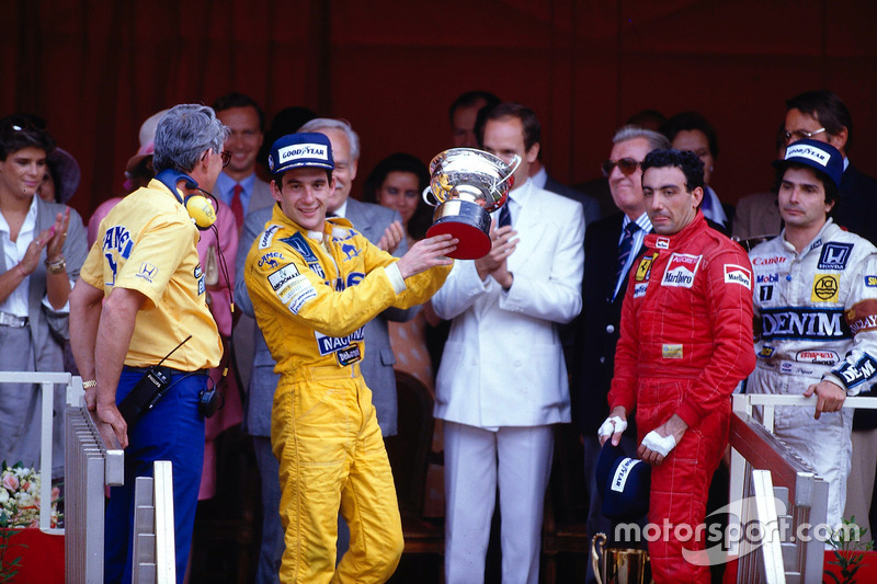 Podium: 1. Ayrton Senna, Team Lotus; 2. Nelson Piquet, Williams; 3. Michele Alboreto, Ferrari