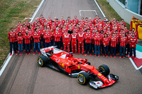 Kimi Raikkonen, Sebastian Vettel, Sergio Marchionne and the Scuderia Ferrari Team with the new Ferrari SF70H