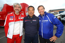 Gigi Dall'Igna, Ducati Team General Manager, Shuhei Nakamoto, vice-president of Honda Racing Corporation, Lin Jarvis, Yamaha Factory Racing Managing Director