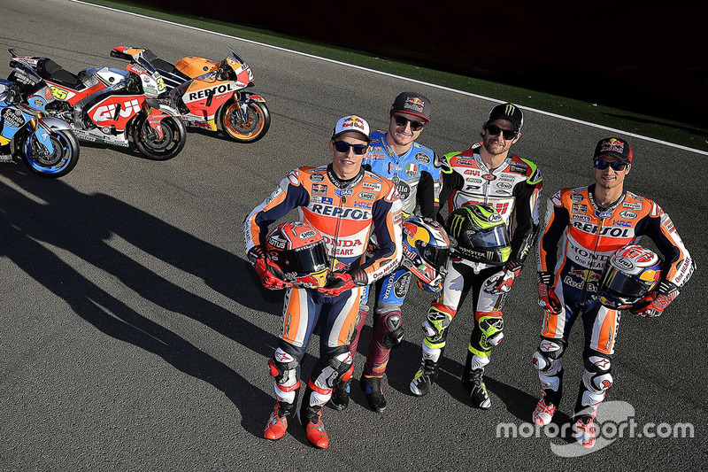 Marc Marquez, Repsol Honda Team, Jack Miller, Estrella Galicia 0,0 Marc VDS, Cal Crutchlow, Team LCR Honda, Dani Pedrosa, Repsol Honda Team