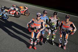 Marc Marquez, Repsol Honda Team; Jack Miller, Estrella Galicia 0,0 Marc VDS; Cal Crutchlow, Team LCR