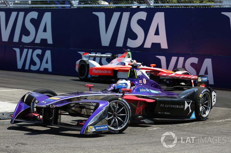 Sam Bird, DS Virgin Racing, y Felix Rosenqvist, Mahindra Racing