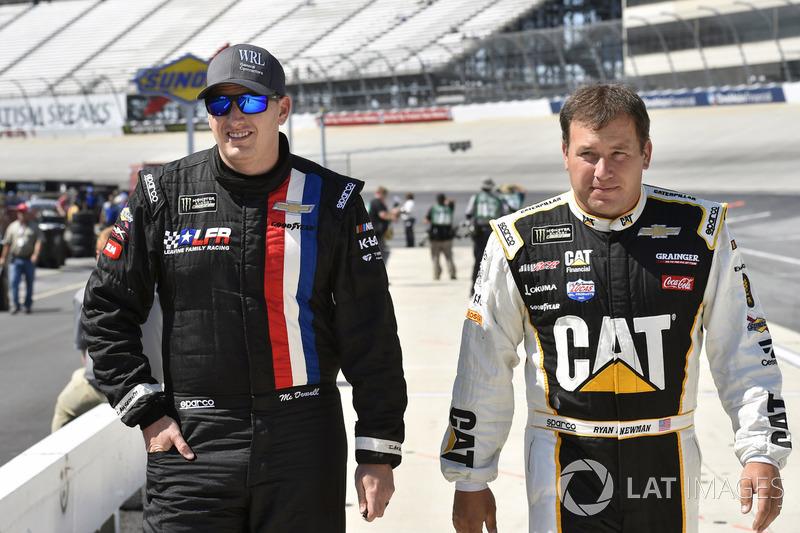 Michael McDowell, Leavine Family Racing, Chevrolet; Ryan Newman, Richard Childress Racing, Chevrolet