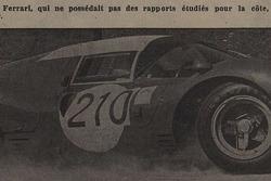 Tribune de Lausanne, article, Herbert Müller, Ferrari 330 P3, Scuderia Filipinetti