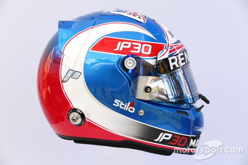 Casco de  Jolyon Palmer, Renault Sport F1 Team
