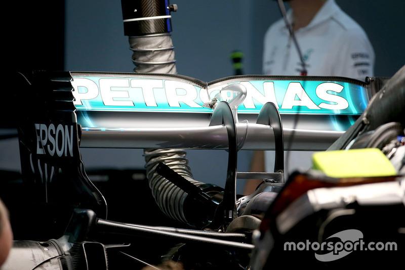 Alerón trasero del Mercedes AMG F1 W09