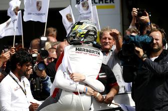 Race winners #99 Precote Herberth Motorsport Porsche 911 GT3 R: Robert Renauer, Mathieu Jaminet