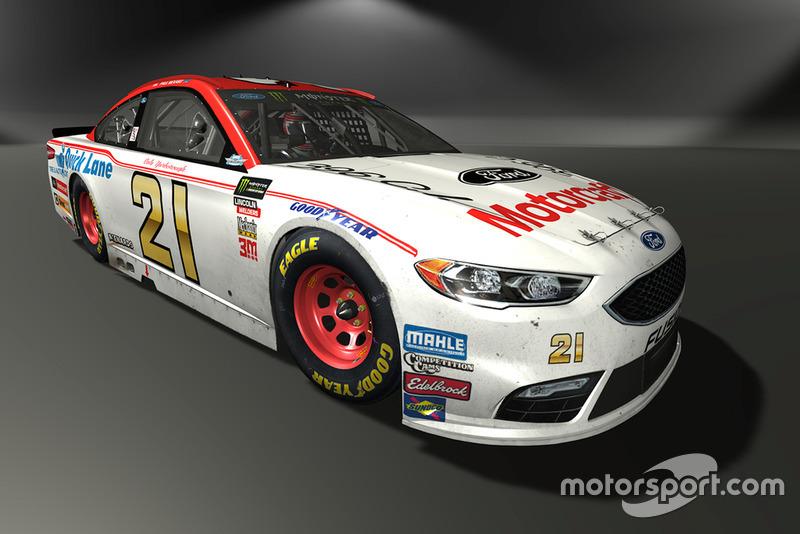 Paul Menard, Wood Brothers Racing, Ford Fusion - NASCAR Heat 3 skin