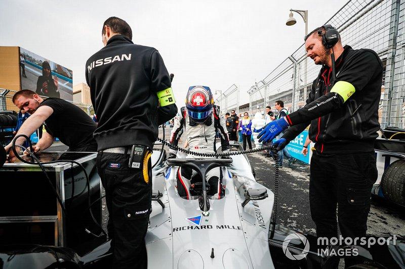 Sébastien Buemi, Nissan e.Dams, Nissan IMO1 arrives on the grid