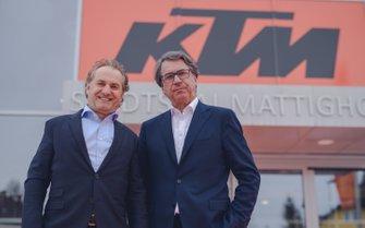 Hubert Trunkenpolz and Stefan Pierer, KTM Team launch presentation