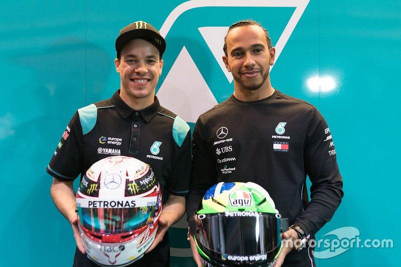 Lewis Hamilton, Franco Morbidelli, Petronas Yamaha SRT