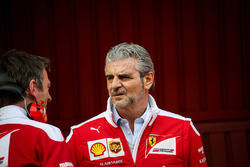 James Allison, Ferrari Chassis Technical Director met Maurizio Arrivabene, Ferrari Team Principal