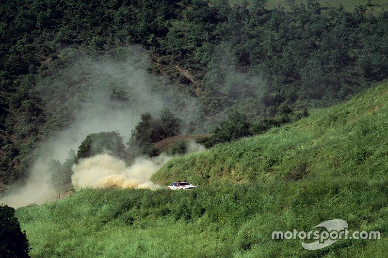 Carlos Sainz, Luis Moya, Toyota Celica GT4, en el Rally de Nueva Zelanda 1990