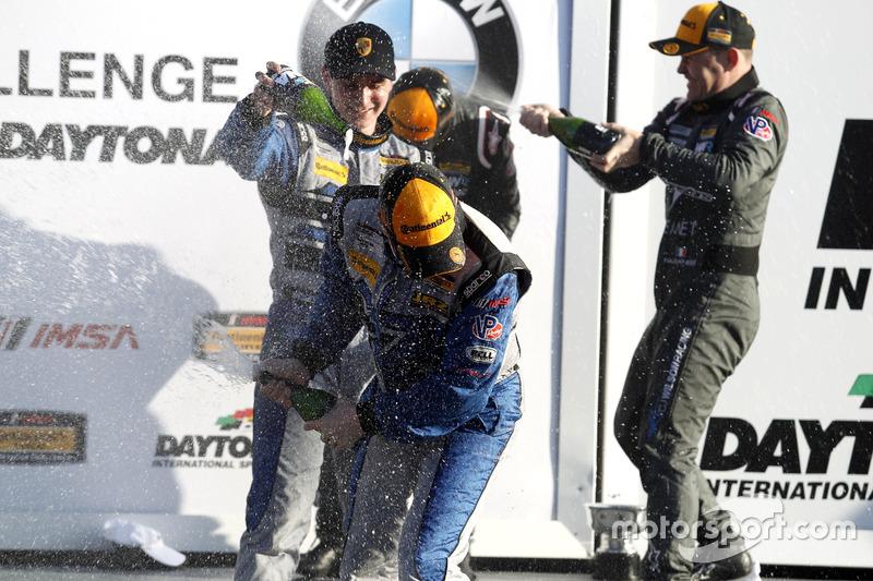 Champagne en el podio