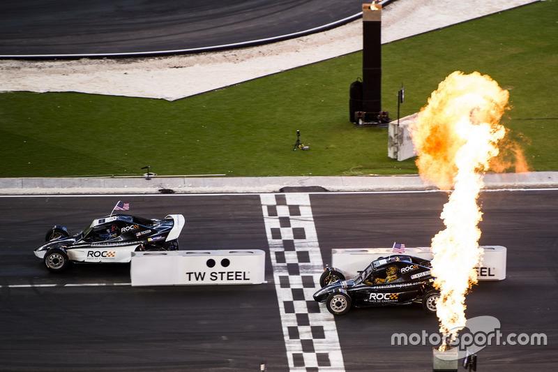 Team USA IndyCar Alexander Rossi, beats Team USA NASCAR Kyle Busch, driving the ROC Car