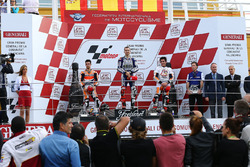 Podium: Race winner Jorge Lorenzo, Yamaha; second place Dani Pedrosa, Repsol Honda; third place Marc Marquez, Repsol Honda