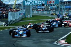 Start: Michael Schumacher, Benetton B195, führt