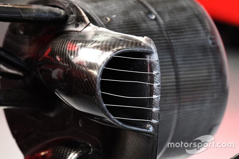Ferrari SF70H: Bremsbelüftung vorn