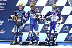 Ganador de la pole  Jorge Martin, Del Conca Gresini Racing Moto3, segundo Aron Canet, Estrella Galicia 0,0 y tercero Romano Fenati, Marinelli Rivacold Snipers