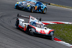 #1 Porsche Team Porsche 919 Hybrid: Neel Jani, Andre Lotterer, Nick Tandy, #77 Dempsey Proton Competition Porsche 911 RSR: Christian Ried, Matteo Cairoli, Marvin Dienst