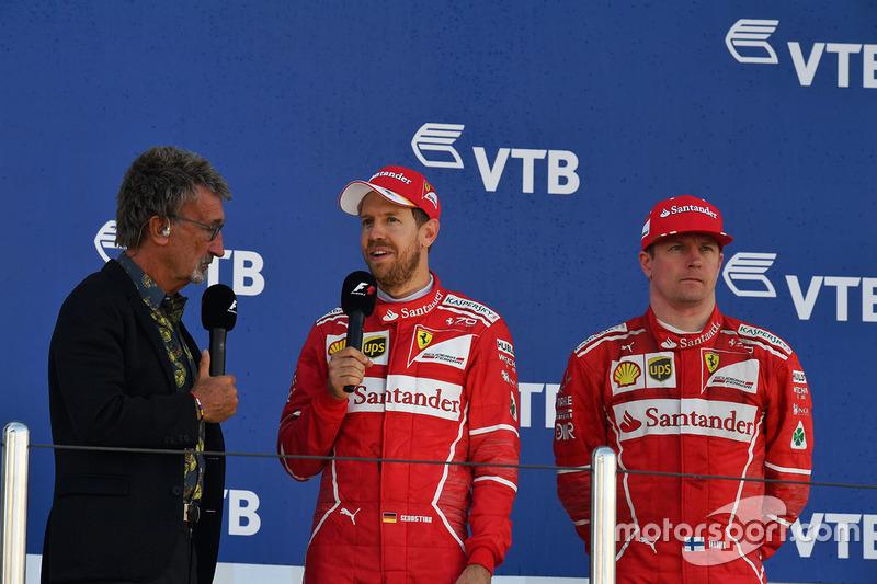 Ferrari volvió a tener a sus dos pilotos en el podio