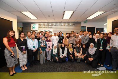Petronas championship celebration