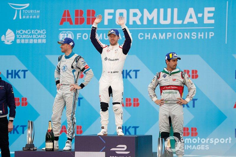 Sam Bird, Envision Virgin Racing celebra, Edoardo Mortara, Venturi Formula E, Lucas Di Grassi, Audi Sport ABT Schaeffler.