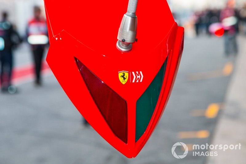 Ferrari pit detail