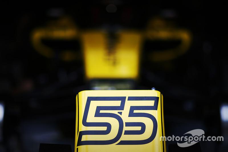 Detalle del Renault de Carlos Sainz Jr., Renault Sport F1 Team R.S. 18