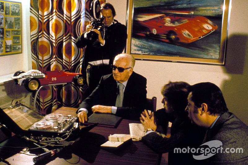 Enzo Ferrari avec Luca Di Montezemolo en 1974