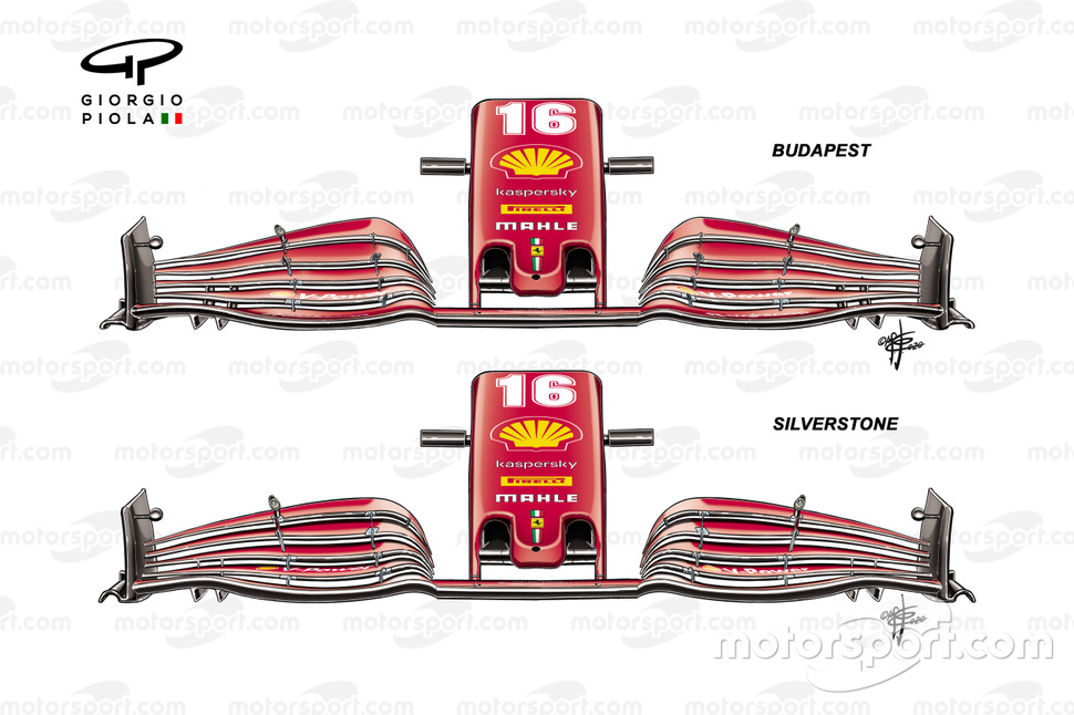 Ferrari SF1000 front wing, Hungarian GP, British GP