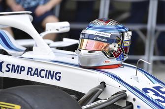 Helmet of Sergey Sirotkin, Williams Racing at the Williams Racing Team Photo