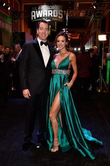 Kyle Busch, Joe Gibbs Racing, mit Ehefrau Samantha