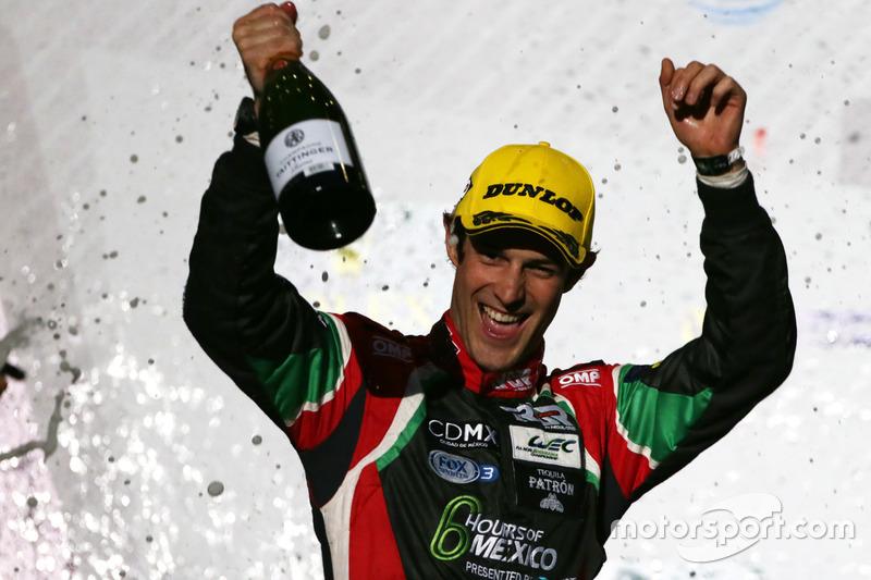 Podium LMP2: Bruno Senna, #43 RGR Sport by Morand Oreca 05 - Nissan