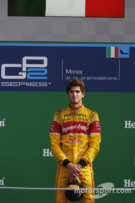 Podio: Antonio Giovinazzi, PREMA Racing