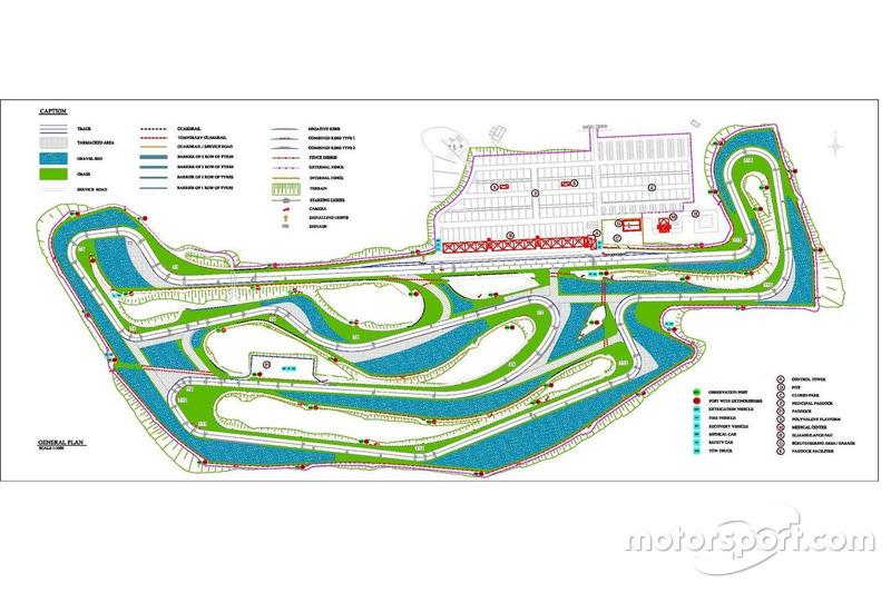 Lageplan des neuen Circuito de Tenerife