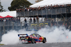 Race winner Jamie Whincup, Triple Eight Race Engineering Holden performs a donut