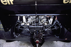 Rear view of the Lotus 98T Renault