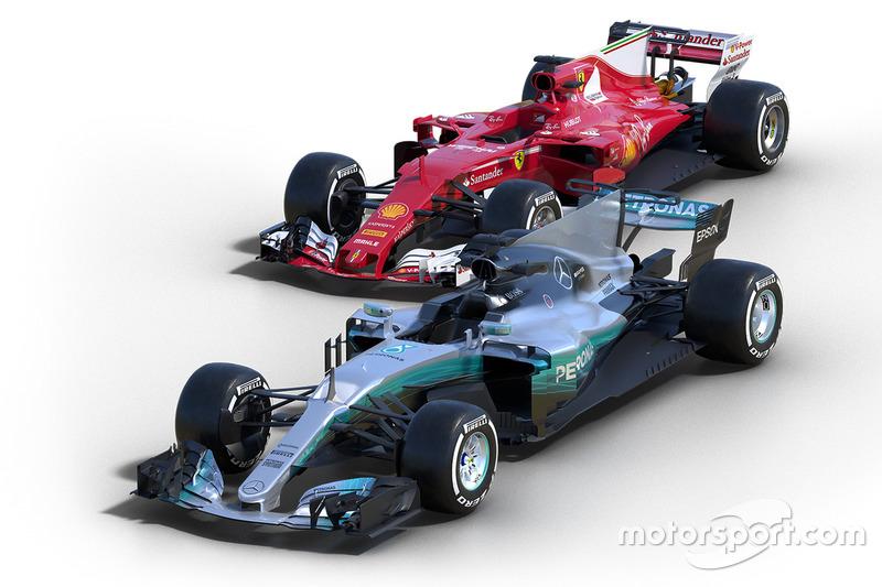 Ferrari SF70H y Mercedes AMG F1 W08