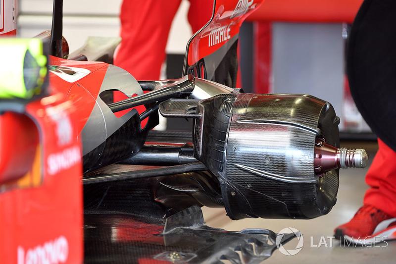 Ferrari SF71H rear wheel hub