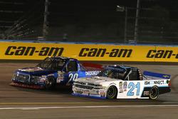 Chase Briscoe, Brad Keselowski Racing Ford, Johnny Sauter, GMS Racing Chevrolet