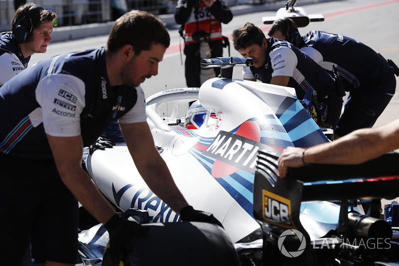 Автомобиль Williams FW41 Сергея Сироткина
