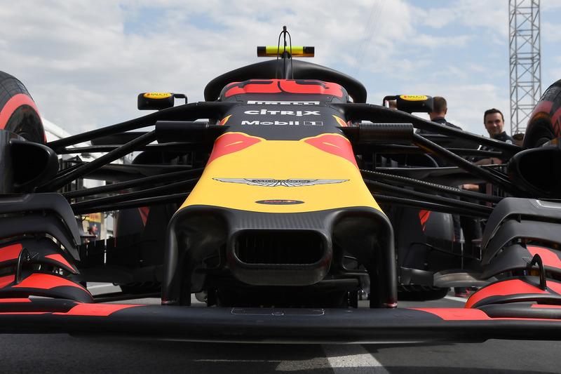 Red Bull Racing RB14 detalle de la nariz