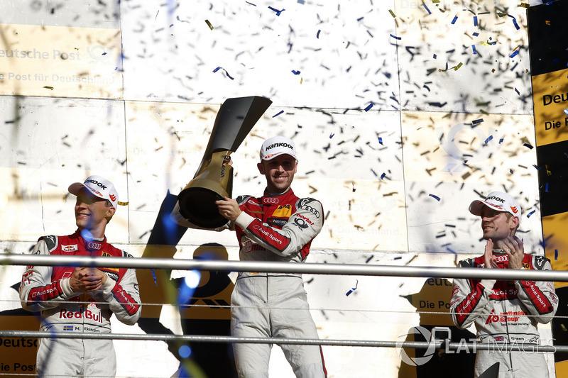 Podio final del campeonato: René Rast, Audi Sport Team Rosberg, Audi RS 5 DTM