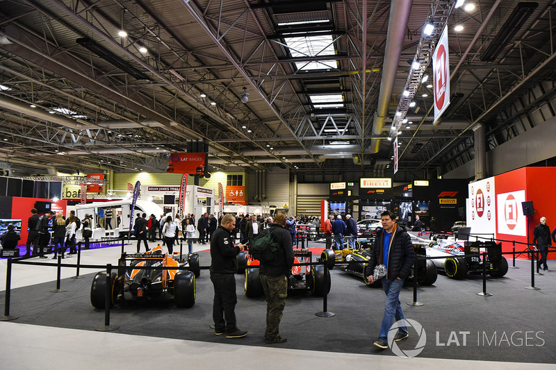 Fans enjoy the F1 Racing Stand Racing