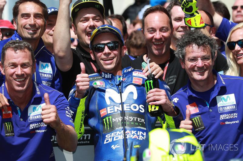 Third place Valentino Rossi, Yamaha Factory Racing