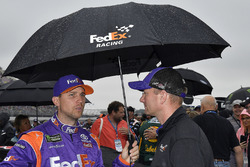 Denny Hamlin, Joe Gibbs Racing, Toyota Camry FedEx Freight and crew chief Mike Wheeler